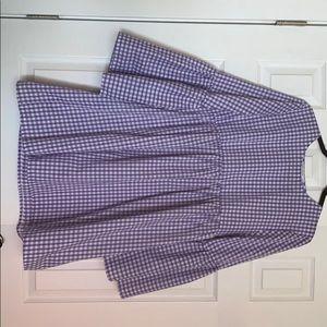 Purple &white gingham urban renewal babydoll dress